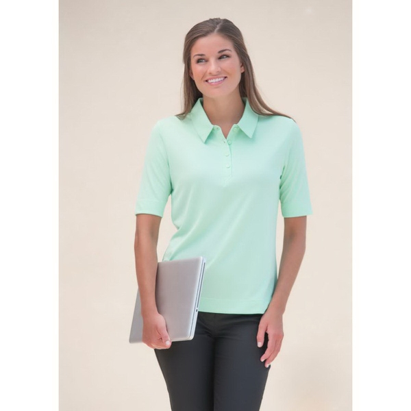 Women's Short Sleeve Syntrel (TM) Interlock Boston Polo