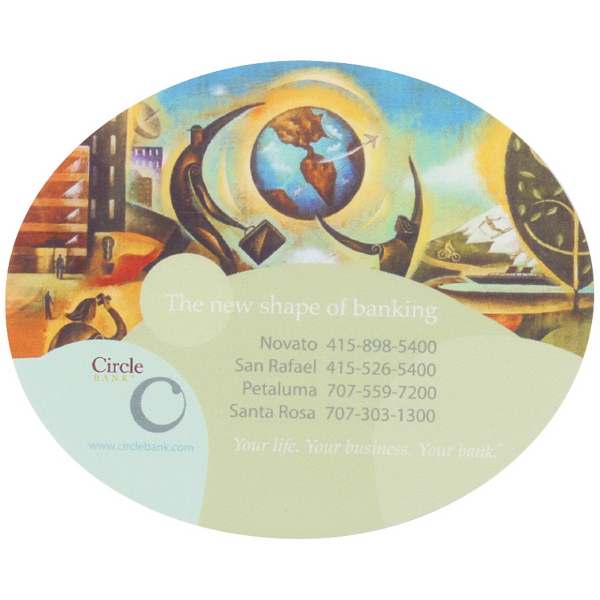 "6-1/2"" x 8"" x 1/8"" Oval Full Color Soft Mouse Pad"