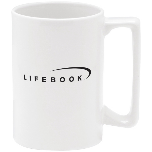 Direct Screen Stoneware Mug - 15 oz