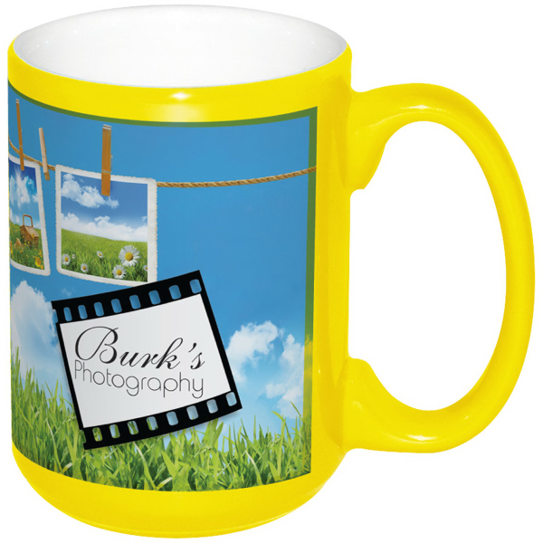Full Color Stoneware CranColor Mug - 15 oz