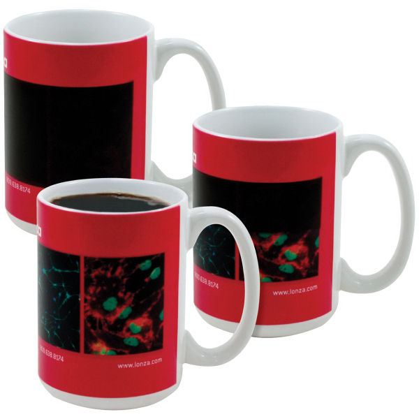 Amazink (R) Full Color Stoneware Mug - 15 oz