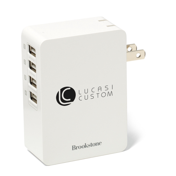 Brookstone (R) 4 Port USB Wall Charger
