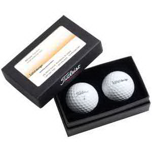 Titleist (R) 2 Ball Business Card Box