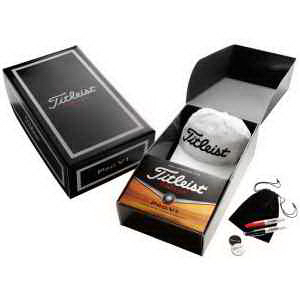 titleist presentation The titleist pro v1 or pro v1x presentation box is a great gift item for any special event it includes 7 customized pro v1 or pro v1x golf balls with your company logo, a stock titleist pro v1 ball marker, and a stock pro v1 divot tool.