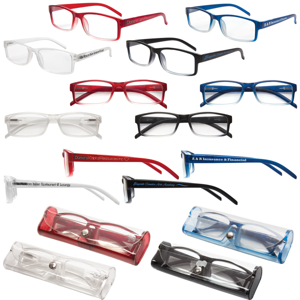 Soft Touch Reading Glasses with Matching Case