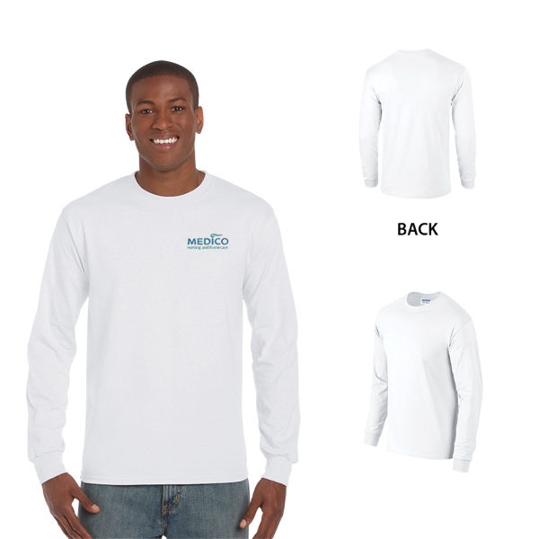 Gildan Ultra Cotton Adult Long Sleeve T-Shirt 6 oz. - White