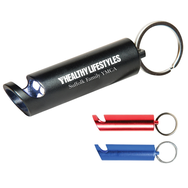 Aluminum Bottle Opener & Flashlight