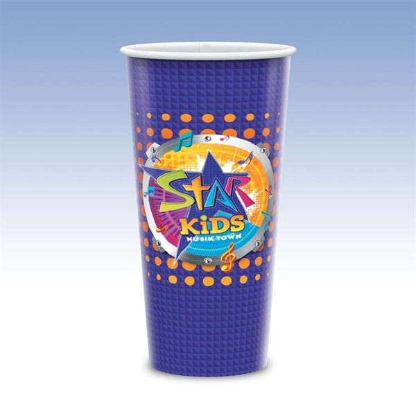 21oz Tall-Heavy Duty Paper Cold Cup Hi-Definition Full Color