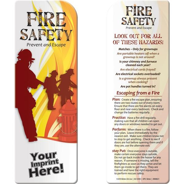 Bookmark - Fire Safety: Prevent and Escape