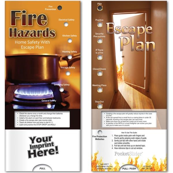 Pocket Slider - Fire Hazards and Escape Plan
