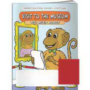 Coloring Book - My Visit to the Museum with Melvin Monkey