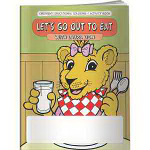 Coloring Book - Let's Go Out to Eat with Laura Lion