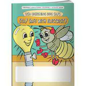 Coloring Book - Lisa Lightning Bug Says Stay Safe with Elect