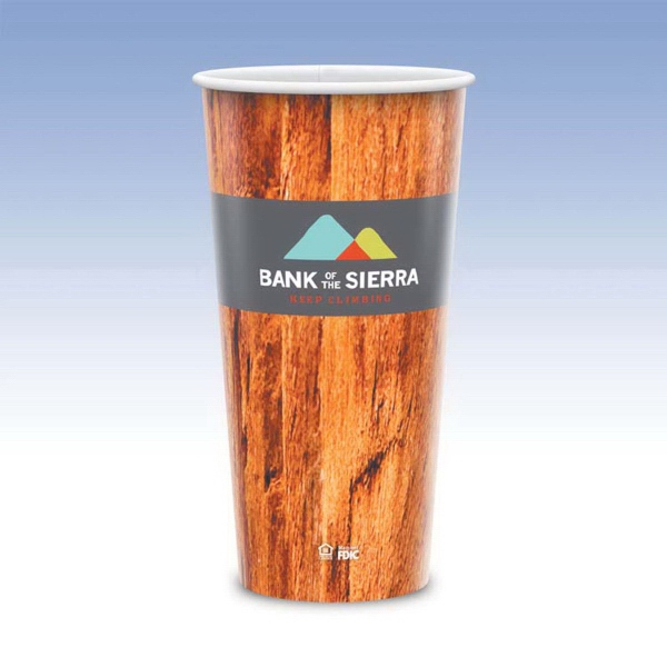 21oz Tall-Heavy Duty Paper Hot Cup-Hi-Definition Full Color
