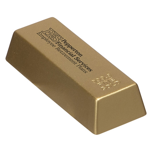 Gold Bar Stress Reliever