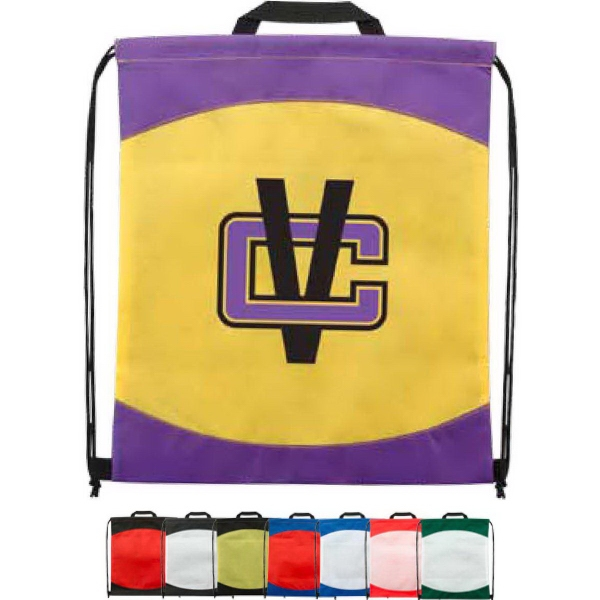 Spirit Two-Tone Non-Woven Drawstring Backpack