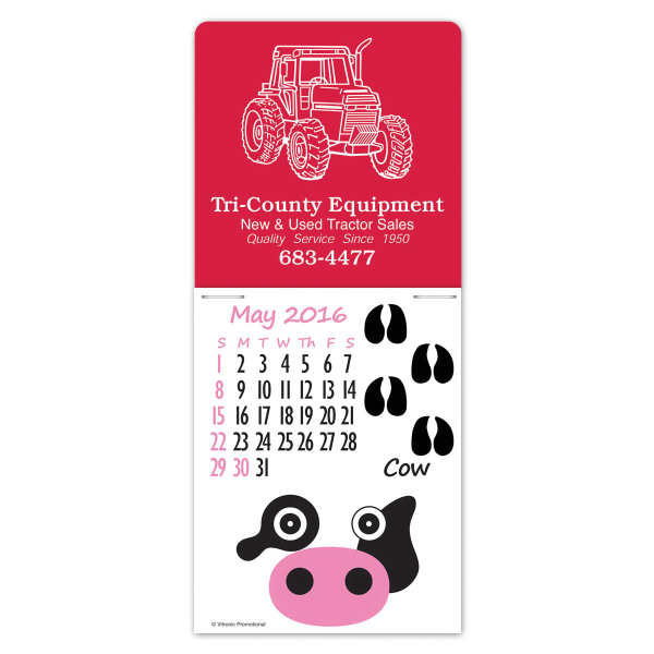 Super-Size Paws N Claws Press-N-Stick Calendar