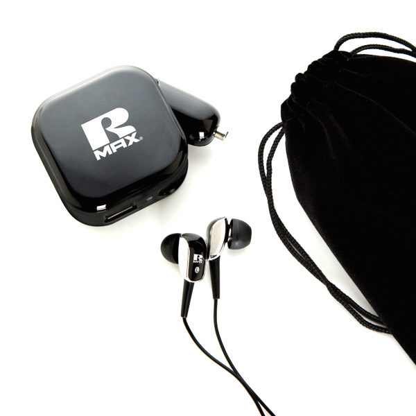 Earphone with AC/DC charger set