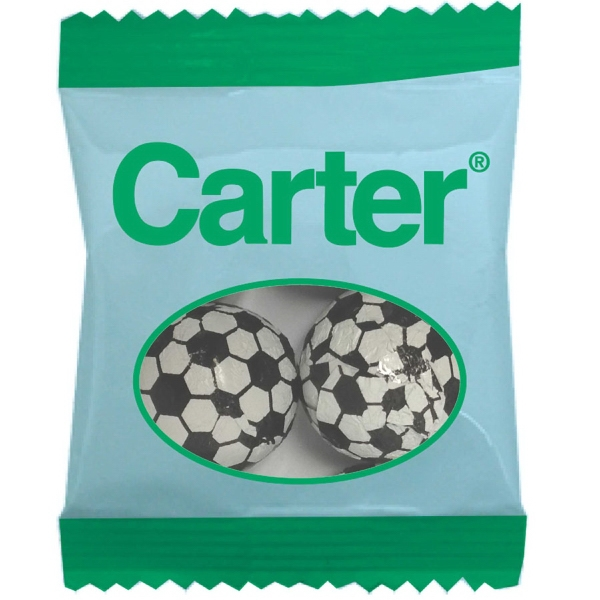 Zaga Snack Promo Pack Bag w/ Chocolate Sports Balls Soccer