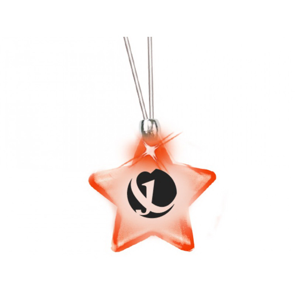 Frosted Glow Pendant (Red LED)
