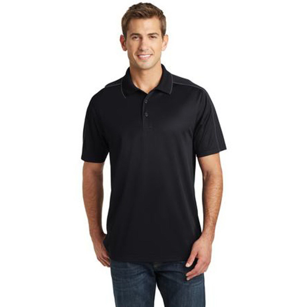 Sport-Tek (R) Micropique Sport-Wick Piped Polo