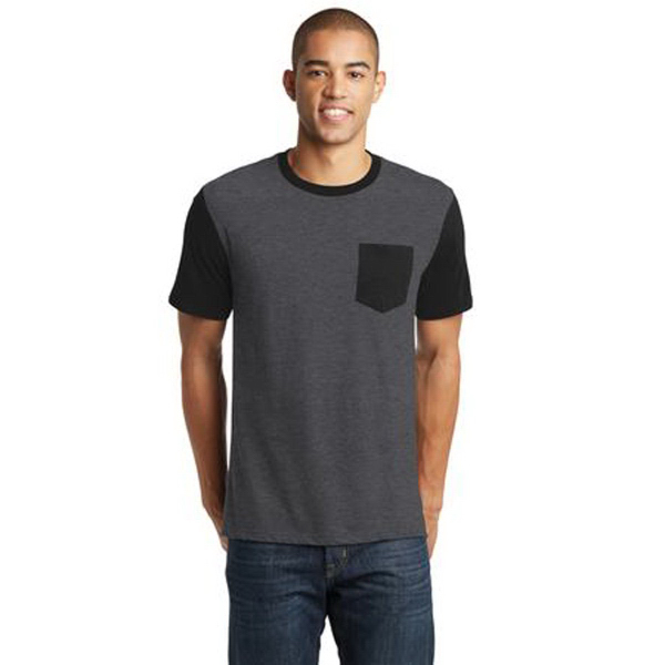 District (R) Young Mens Very Important Tee, Contrast Sleeves