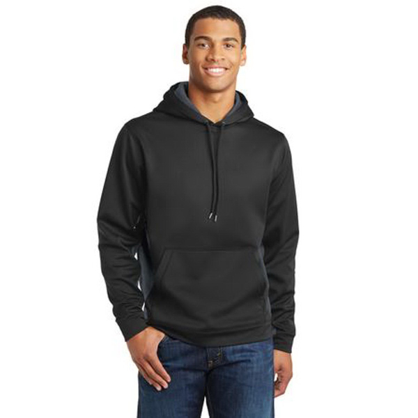 Sport-Tek (R) Sport-Wick CamoHex Colorblock Hooded Pullover