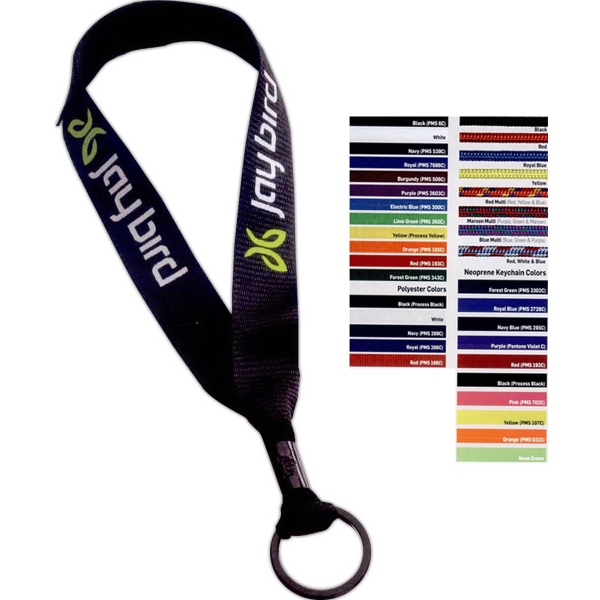 Polyester Key Chain with Metal Crimp & Split-Ring