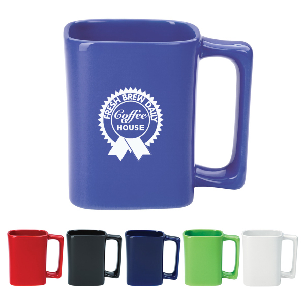 11 oz. White Square Mug