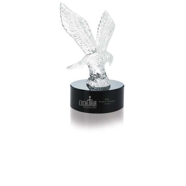 Eagle Award on Glass Base