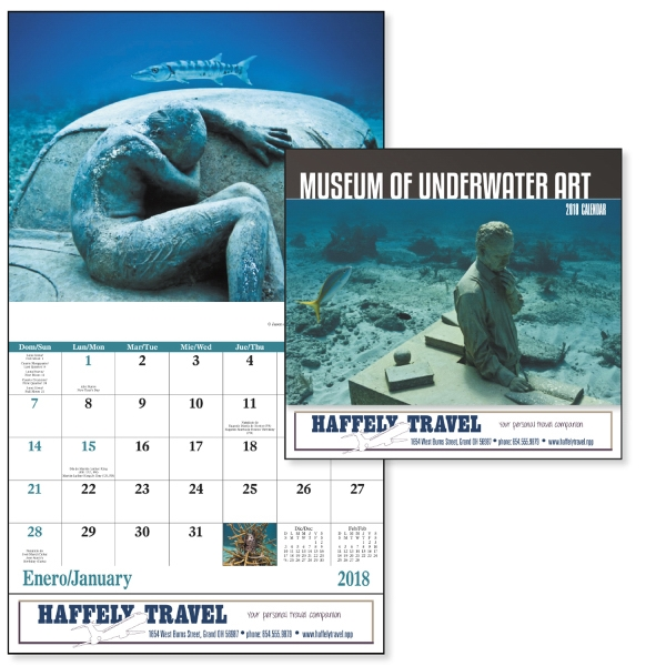 Stapled Museum of Underwater Art Appointment Calendar