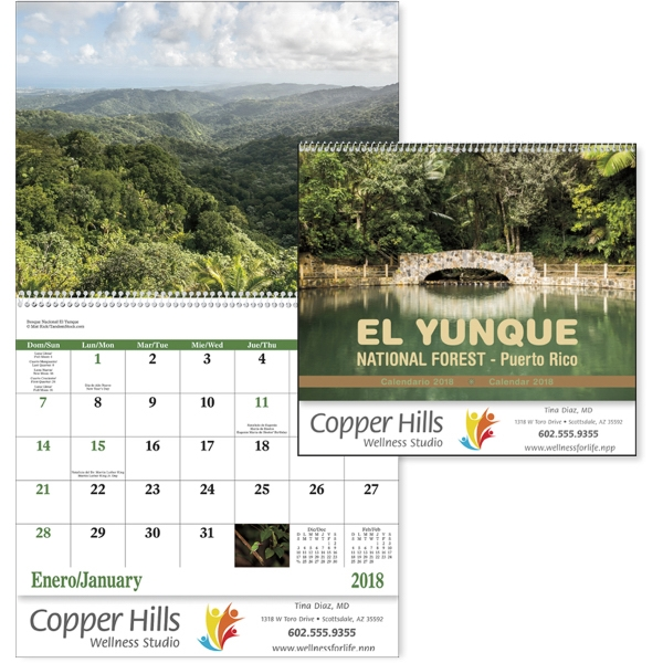 Spiral El Yunque National Forest Scenic Appointment Calendar