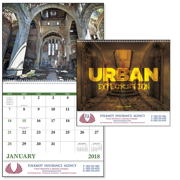 Spiral Urban Exploration Scenic Appointment Calendars