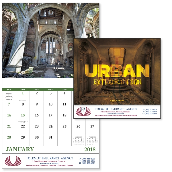 Stapled Urban Exploration Scenic Appointment Calendar