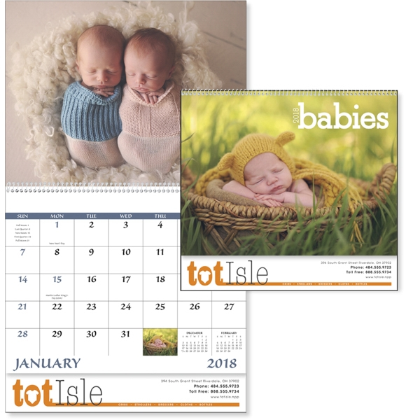 Spiral Babies Lifestyle Appointment Calendars