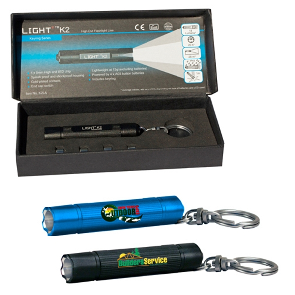 K2 Light2 LED Flashlight, Full Color Digital