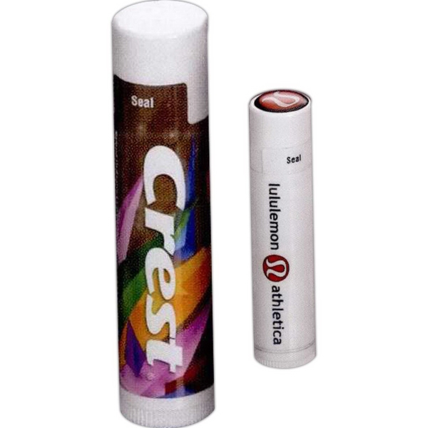 SPF15 Lip Moisturizer in White Tube w/Full Color Dome on Lid