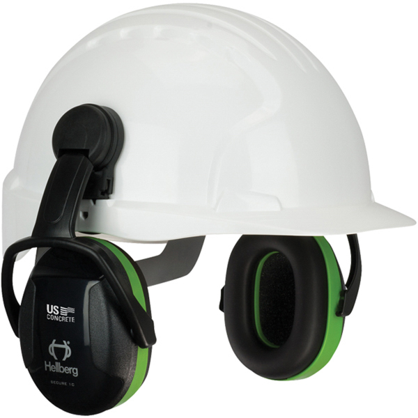 Secure (TM) Cap Mounted Passive Hearing Ear Muffs