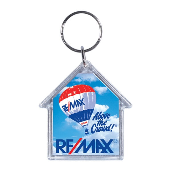 Full Color Acrylic House Key Tag