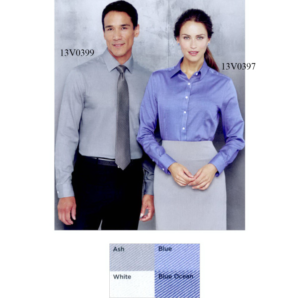 Van Heusen Long Sleeve Ringspun Twill Shirt