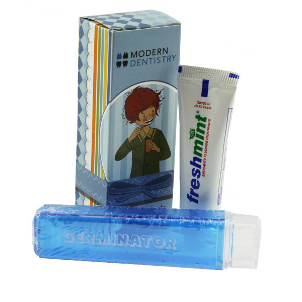 Travel Tooth Brush with Box and Small Toothpaste