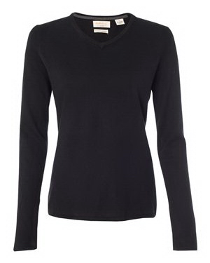 Weatherproof Vintage Ladies' Cotton Cashmere V-Neck Sweater