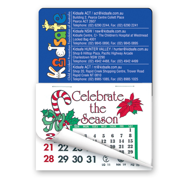 Stock Shape Calendar Pad Magnets