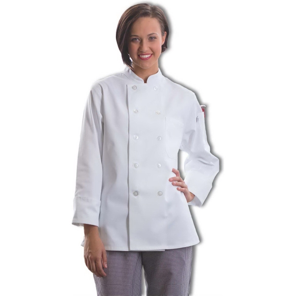 Women's Twill  Chef Coat - White