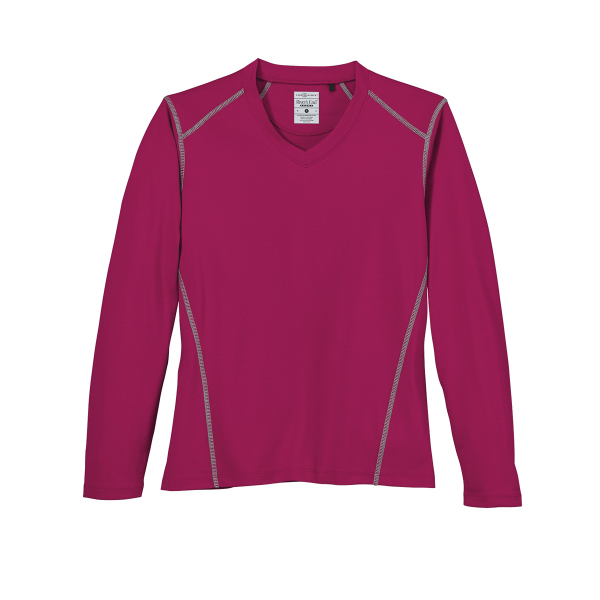 River's End Sport Women's Long-Sleeve Contrast Stitch Tee