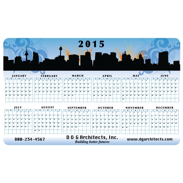 Dry Erase Wall Calendar - Repositionable Adhesive