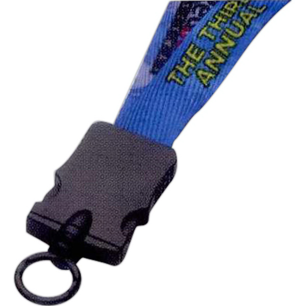 "Quick Turn 3/4"" Dye-Sublimated Lanyard w/Plastic Snap-Buckle"