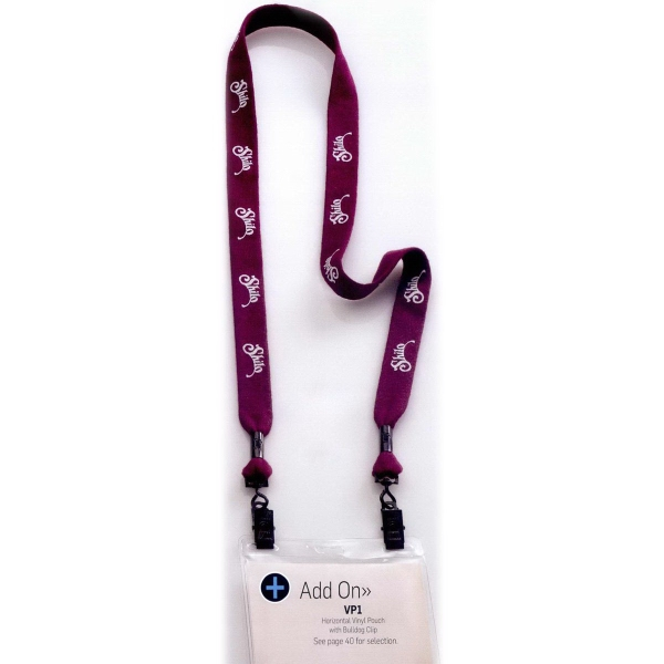 """3/4"""" Polyester Double Ended Bulldog Clip Lanyard"""