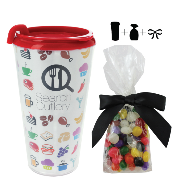 Plastic Travel Mug with Jelly Beans - 16 oz. - Drinkware