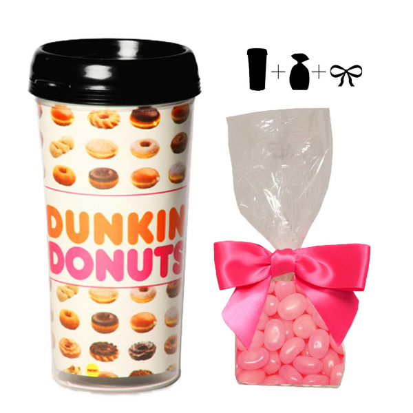 Plastic Travel Mug with Corporate Color Jelly Beans - 16 oz.